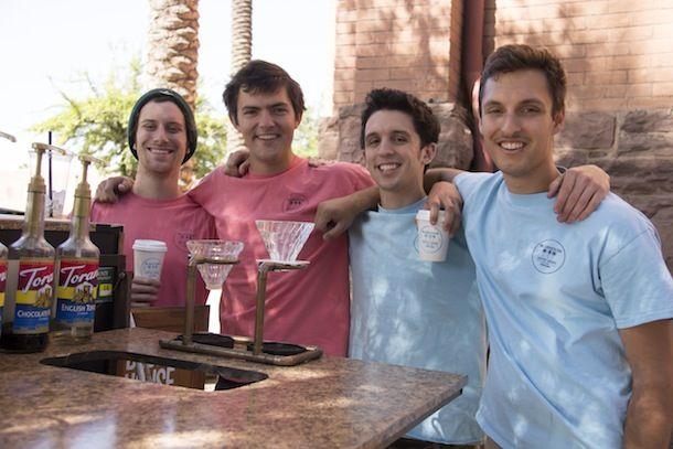 Sean Megruder, Sam Beger, Harry Bowers and Nicholas DiPasatena