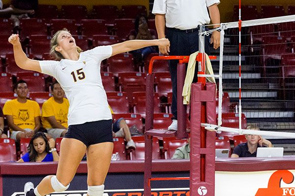 ASU Volleyball vs Mt Royal U, Sept. 4 2014