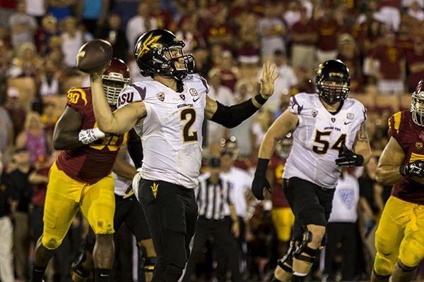 Football Mike Bercovici USC Jael Mary