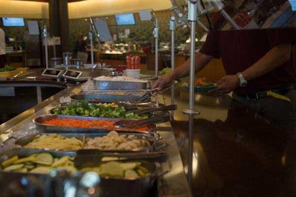 Eat healthy at the dining hall