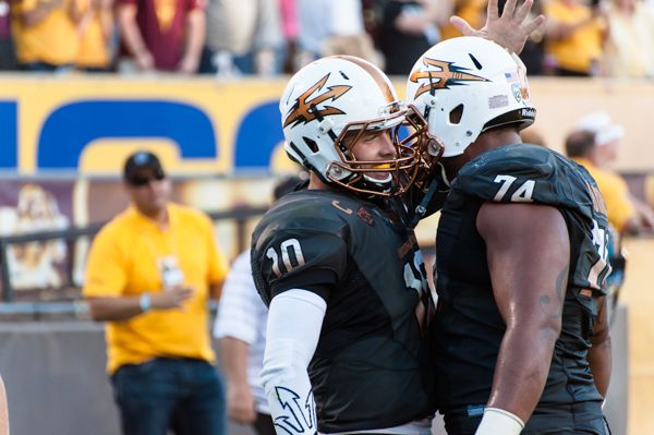 , Saturday, Nov. 8, 2014 at Sun Devil Stadium in Tempe. (Photo by Ben Moffat)
