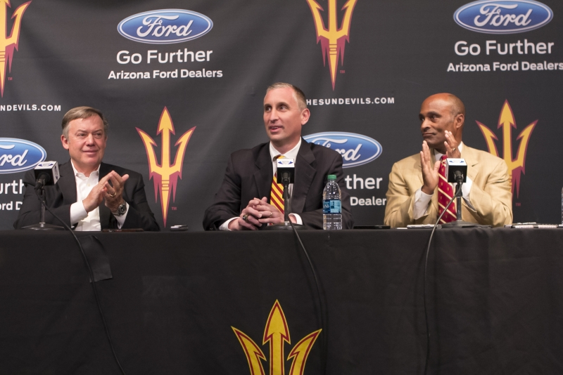 ASU men's basketball coach Bobby Hurley speaks on first month at ASU