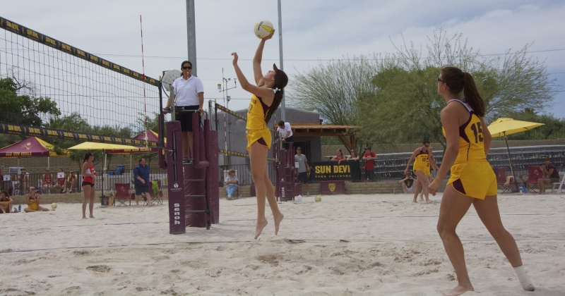 Andi Lowrance Frances Giedraitis- sand volleyball