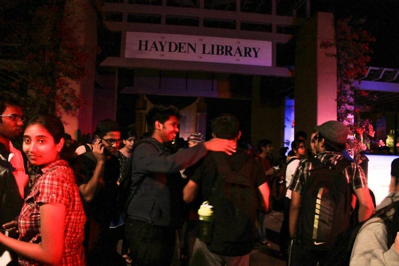 Hayden Library fire alarm 1
