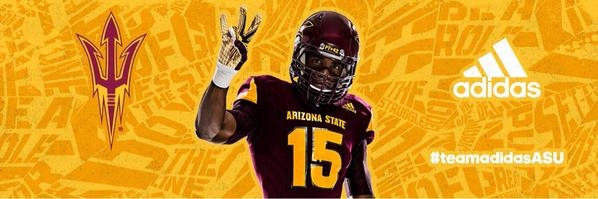 Adidas ASU home football uni