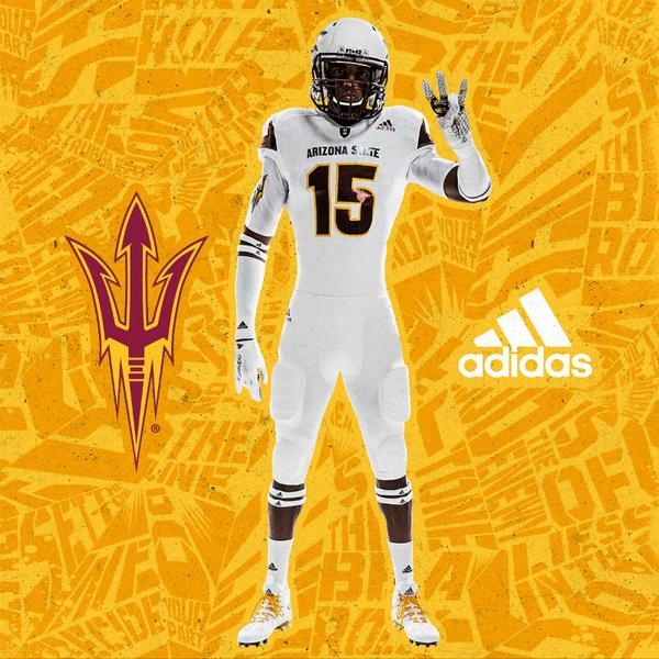 ASU white football uniform set