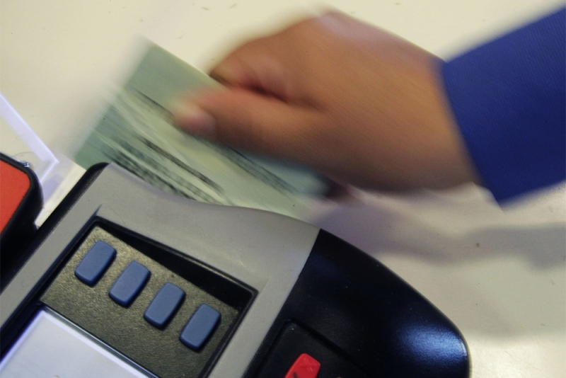 Tipping debit card