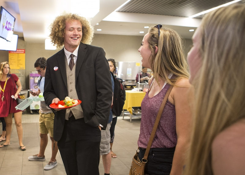Student leader Jimmy Arwood fights for your right to lower tuition