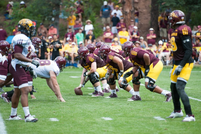ASU football's interior offensive line a formidable force up front