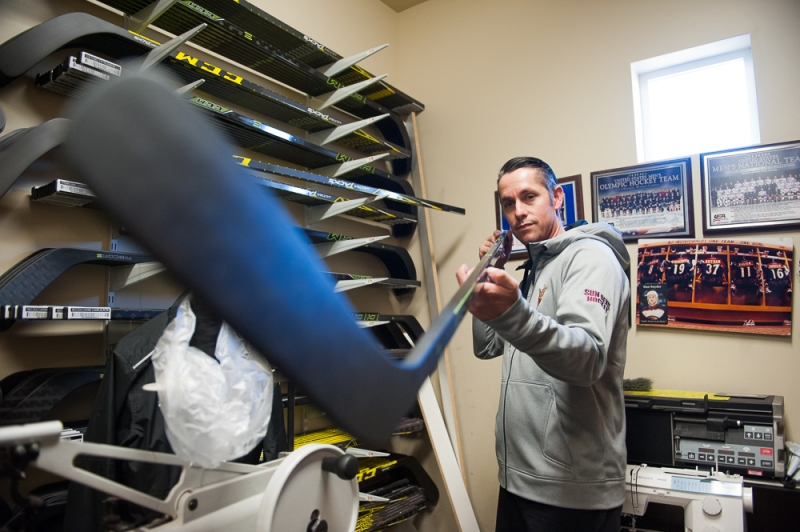 New ASU hockey equipment manager's journey, experiences shape positive attitude toward job